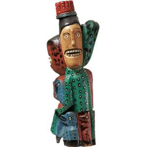 Manoel Graciano - Figuras madeira - 81 x 33 x 23
