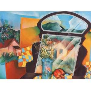 Yara Tupynambá - A penteadeira da Vovó vst - 1986 67 x 90 - Apresenta no verso etiqueta da Galeria Oscar Seraphico