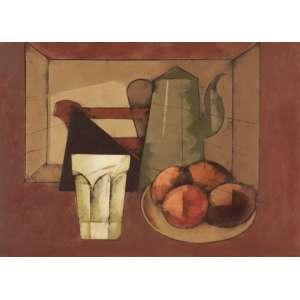 Carlos Scliar - Copo facetado, frutas, etc vcest - 1988 55 x 75