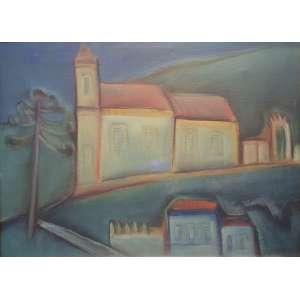 Carlos Bracher -Igreja de São João Del Rey - ost - cid - 1980 - 54 x 73