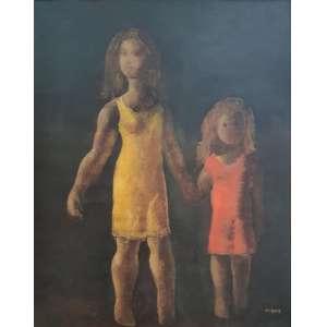 Orlando Teruz - Mãe e Filha -ost - cid - 1968 - 61 x 50 -Registrada no Instituto Teruz