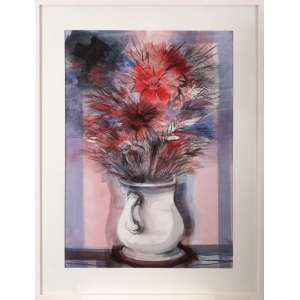 Bianco - Vaso de flores - desenho aquarelado - 2005 - 70 x 50