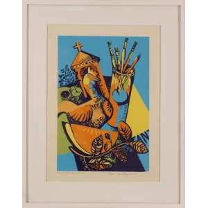 Yara Tupynambá - Mesa de atelier para Inimá - serigrafia 12/200 - 55 x 40