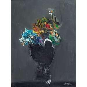 DANILO DI PRETE<br>Vaso de flores. Ost, 61 x 46 cm. Assinado no cid.