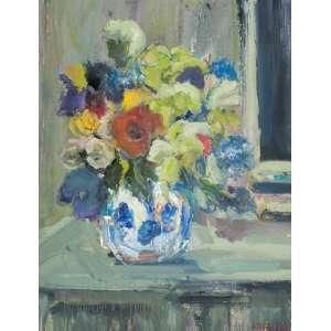STELLA BIANCO<br />Vaso com flores. Ost, 93 x 73 cm. Assinado no cid.