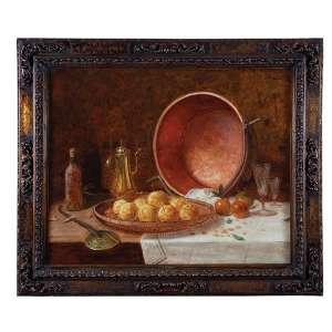 PEDRO ALEXANDRINO <br />Tacho, laranjas e cafeteiras. Ost, 91 x 111 cm. Assinado no csd.
