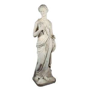 Primavera. Escultura de mármore. 136 cm de altura. Itália, séc. XIX.