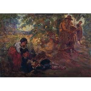 IROLLI, Vincenzo (atribuído) <br />Figura em descanso. Ost, 90 x 127 cm. Assinado no cid.