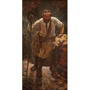 HENRIQUE BERNARDELLI<br />Camponês. Ost, 70 x 40 cm. Assinado no cie.