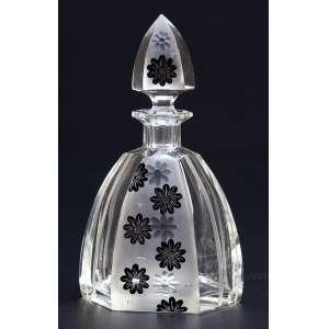 Licoreiro de cristal art deco. 23 cm de altura. Bohemia, séc. XX.