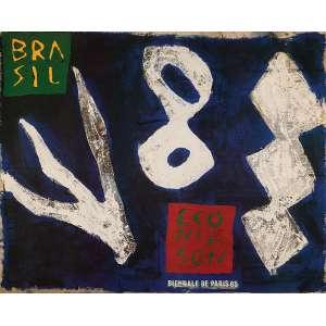 LEONILSON<br />Cartaz da Mostra Leonilson. Impressão digital, 49 x 60 cm. Emoldurado.