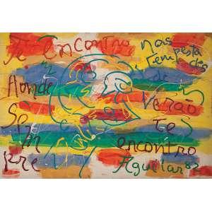 JOSÉ ROBERTO AGUILAR<br />Morning Star. Osm, 70 x 100 cm. Assinado no cid, datado de 1982.