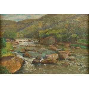 MANOEL FARIA<br />Jacuba. Ost, 54 x 81 cm. Petrópolis, 1952. Assinado no cie.