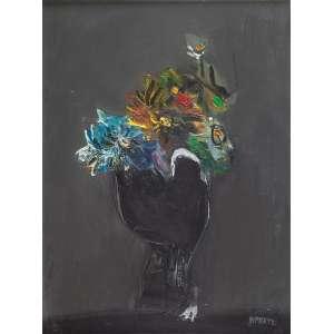 DANILO DI PRETE<br />Vaso de flores. Ost, 61 x 46 cm. Assinado no cid.