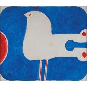 ALDEMIR MATINS<br />Pássaro. Asp, 47 x 65,5 cm. Assinado ao lado esquerdo. Déc. 80.