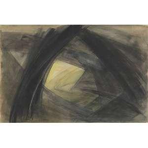 SAMSON FLEXOR<br />Abstração. Aquarela sobre papel. 31 x 47 cm. Assinado e datado de 1961 no cid.