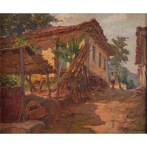 LUIZ LABOZETTO<br />Casa Conceição do Mato Dentro, Minas Gerais. Ost, 46 x 38 cm. Assinado no cid. <br />Selo da Exposição da Secretaria de Estado da Cultura.