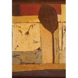 GLÊNIO BIANCHETTI<br />Composição. Os placa, 56 x 38 cm. Assinado e datado de 1966 no cid.