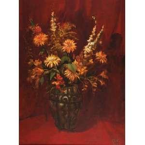 MARIO GRUBER<br />Vaso com flores. Ost, 101 x 76 cm. Assinado e datado de 96 no cid.