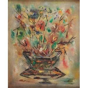 IVAN BLIN<br />Vaso de flores. Ost, 55 x 46 cm. Assinado e datado de 60 no verso.