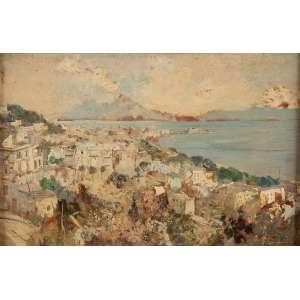 CANGIULLO, Francesco (1884-1977)<br />Paisagem de Sorrento. Osm, 43,5 x 67 cm. Assinado no cid.