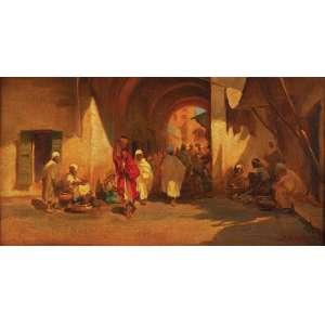 DARIO MECATTI<br />Cena árabe. Ost, 35 x 65 cm. Assinado no cid.