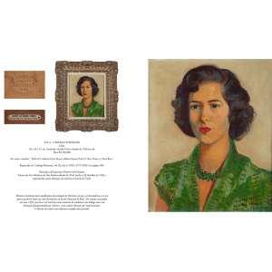 CÂNDIDO PORTINARI<br />Lilah. Ost, 45 x 37 cm. Assinado, situado Paris e datado de 1950 no cid.