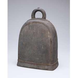 Gongo de bronze. 34 cm de altura. China, séc. XVIII.