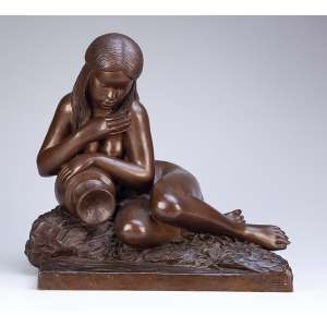 LÉLIO COLUCCINI<br />Marabá. Escultura de bronze. 40 x 28 x 38 cm de altura. Assinada e datada de 943 na base.