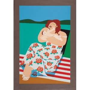 FLORIANO TEIXEIRA<br />Maternidade. Serigrafia PA 15, 70 x 50 cm. 1982. Assinado embaixo à direita. Sem moldura.