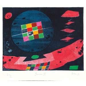 LEOPOLDO RAIMO<br />Junina III. Gravura em metal PA XIX/XX, 47 x 55 cm. 1982. Assinado embaixo à direita. Sem moldura.