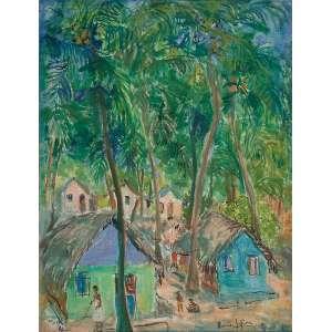 RENÉE LEFÈVRE<br />Paisagem. Ost, 37 x 48 cm. Assinado no cid, datado de 81, situado no cie em Coqueiral - Maceió.