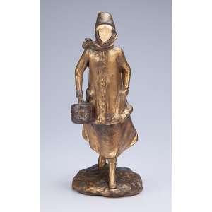 A. BOFILL<br />Jovem em movimento. Escultura de bronze e marfim. 24,5 cm de altura. <br />Assinada na base. França, c. 1930.
