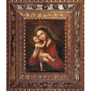 ESCOLA EUROPÉIA (SÉC. XIX)<br />Madona. Ost, 50 x 37 cm.