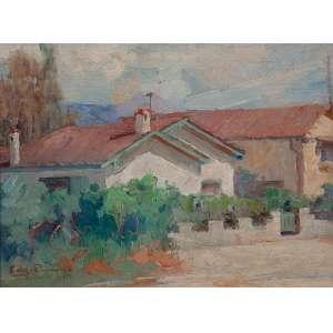 EDGARD PARREIRAS<br />Rua de Teresópolis. Osm, 27 x 34 cm. Assinado e datado de 1954 no cie.