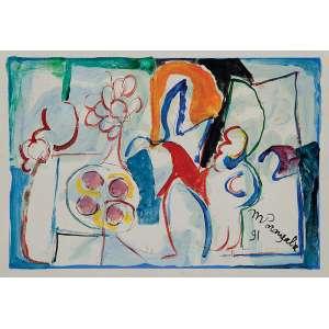 MARTINS DE PORANGABA<br />Sem título. Guache, 20 x 28 cm. 1991. Assinado embaixo à direita. Sem moldura.
