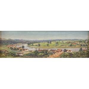 ALÍPIO DUTRA<br />Rio Piracicaba. Osm, 19 x 56 cm. Reproduzido em Os Artistas Dutra, por Augusto Velloso, página 68. <br />Coleção Augusto Velloso.