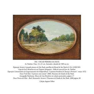 OSCAR PEREIRA DA SILVA<br />Av. Paulista. Osm, 13 x 21 cm. Assinado e datado de 1905 no cie. <br />Coleção Augusto Velloso.