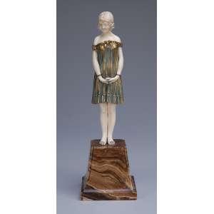 CHIPARUS, Demetre<br />Innocense. Escultura de bronze e marfim sobre base de mármore. Assinada na base. 25 cm de altura. França, c. 1935. Reproduzida em Master of Art Deco, de Alberto Shayo, na pág. 83.