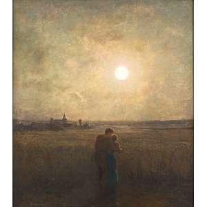 ADRIEN-LOUIS DEMONT (1851-1928)<br />Les fiançailles. Ost, 100 x 90 cm. Assinado no cie. (Atribuído)<br />Coleção Augusto Velloso.