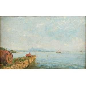 JOSEPH SELLENY (1824-1875)<br />Baía de Guanabara. Osm, 30 x 40 cm. Assinado no cid. (Atribuído). <br />Coleção Augusto Velloso.