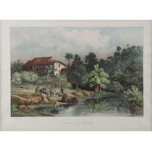 FISQUE, Theodore<br />Environs de Rio de Janeiro. Lith. par Joly, fig. par Bayo. 20 x 30 cm. Impressa por Lemércier. <br />Coleção Augusto Velloso.