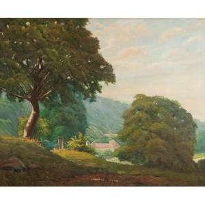 CLODOMIRO AMAZONAS<br />Paisagem. Ost. 80 x 97 cm. Assinado no cid.