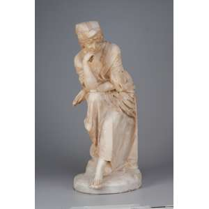 Pensativa. Escultura de alabastro. 61 cm de altura. Europa, séc. XIX.