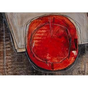 FRANCISCO JIMENEZ<br />Sem título. Técnica mista, 25 x 35 cm. Assinada no cid.