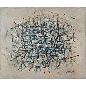 ANTONIO BANDEIRA <br />Abstrato Lírico - Explosão. 1961. Ost, 49 x 59 cm. Assinado no cid. <br />Reproduzido no livro Do Crepúsculo ao Noturno, pág. 36.