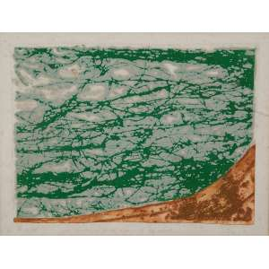 Sanson Flexor / Izar do Amaral Barlink <br />Que dê os puros rios... e só sabão. Gravura em metal, 30 x 40 cm. Assinado no cie.