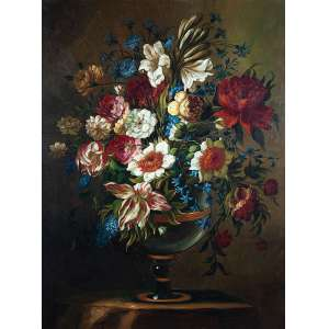 AUTORIA DESCONHECIDA<br />Flores. Ost, 120 x 90 cm.