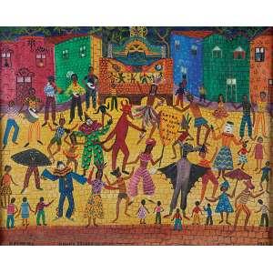 ROSINA BECKER DO VALLE<br />Carnaval. Ost, 48 x 60 cm. Assinado no centro inferior. Datado de 1967 no cid.