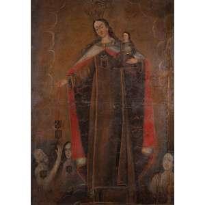 CUSQUENHO (Séc. XVIII)<br />Cena religiosa. Ost, 130 x 92 cm. Bolívia ou Peru.